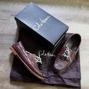Cole Haan Leather Chestnut Breezer Boat Shoes II